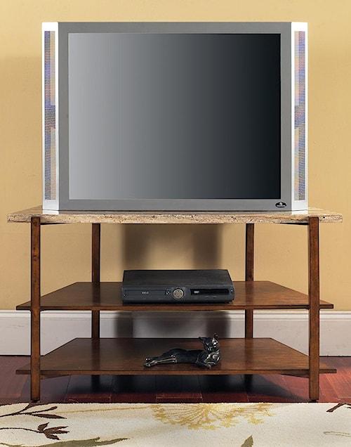 Steve Silver Tivoli Contemporary Faux Marble 2-Shelf TV Stand
