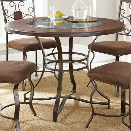 Steve Silver Toledo Round Table with Glass Insert