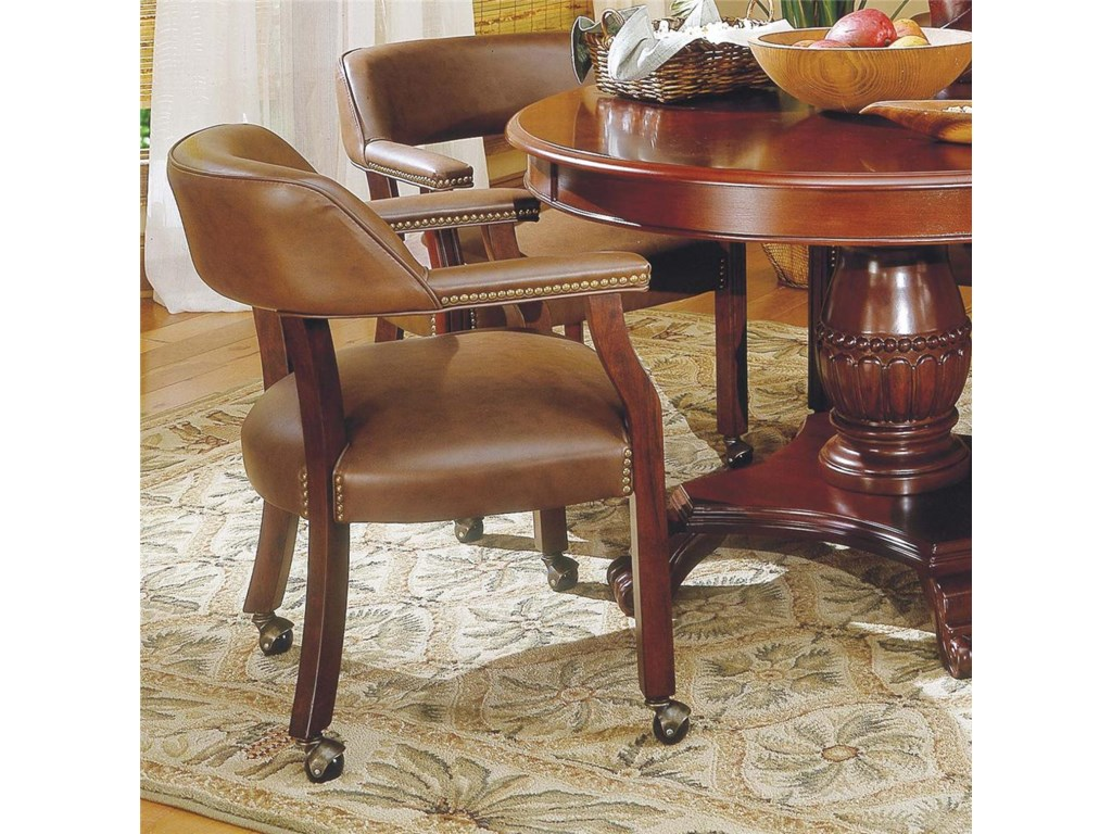 Tournament Tournament Game Arm Chair With Casters By Steve Silver At Wayside Furniture