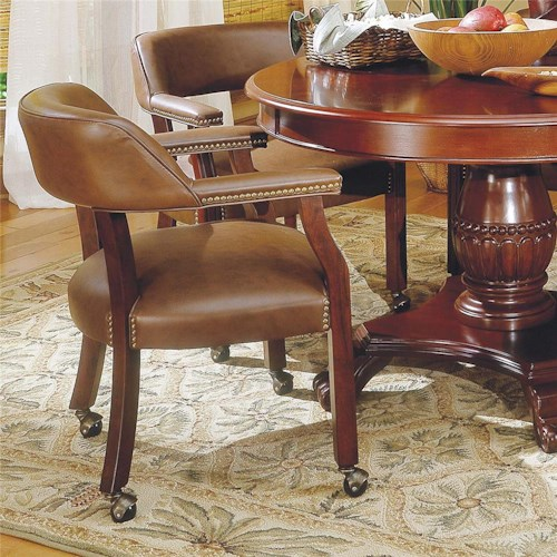 Steve Silver Tournament Tournament Game Arm Chair with Casters