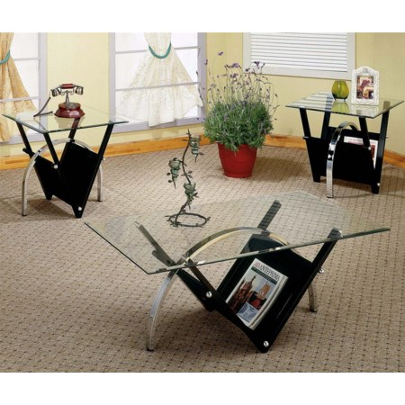 Glass Top Occasional Table Group
