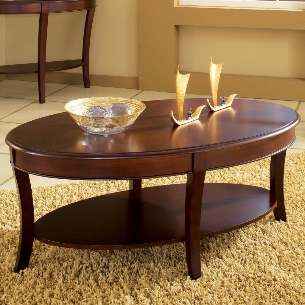 Troy cocktail table with open lower shelf by steve silver