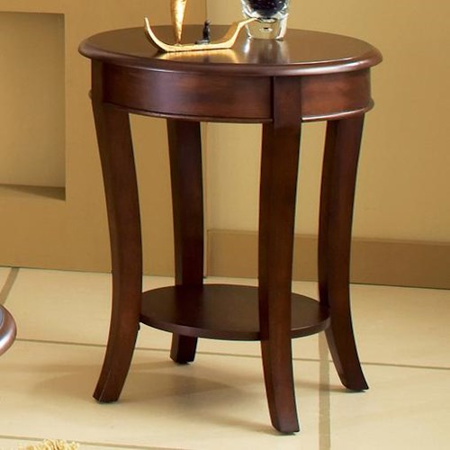 Steve Silver Troy Round End Table with Sabered Legs