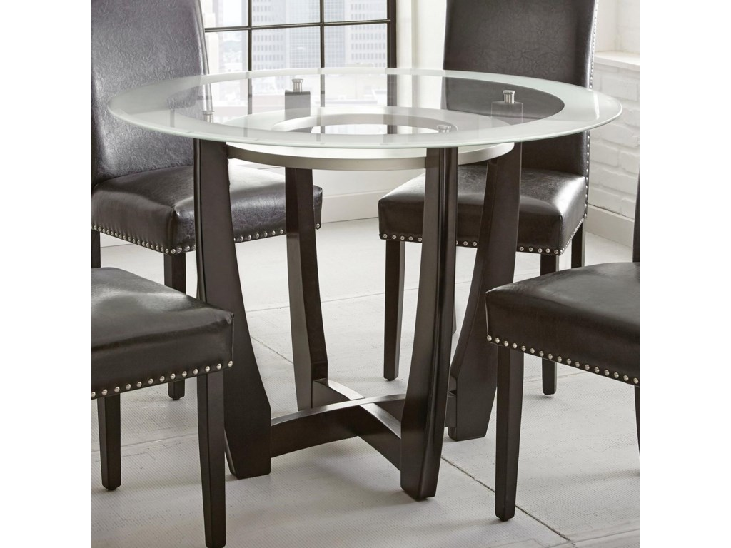 Verano 45 Round Gl Top Dining Table