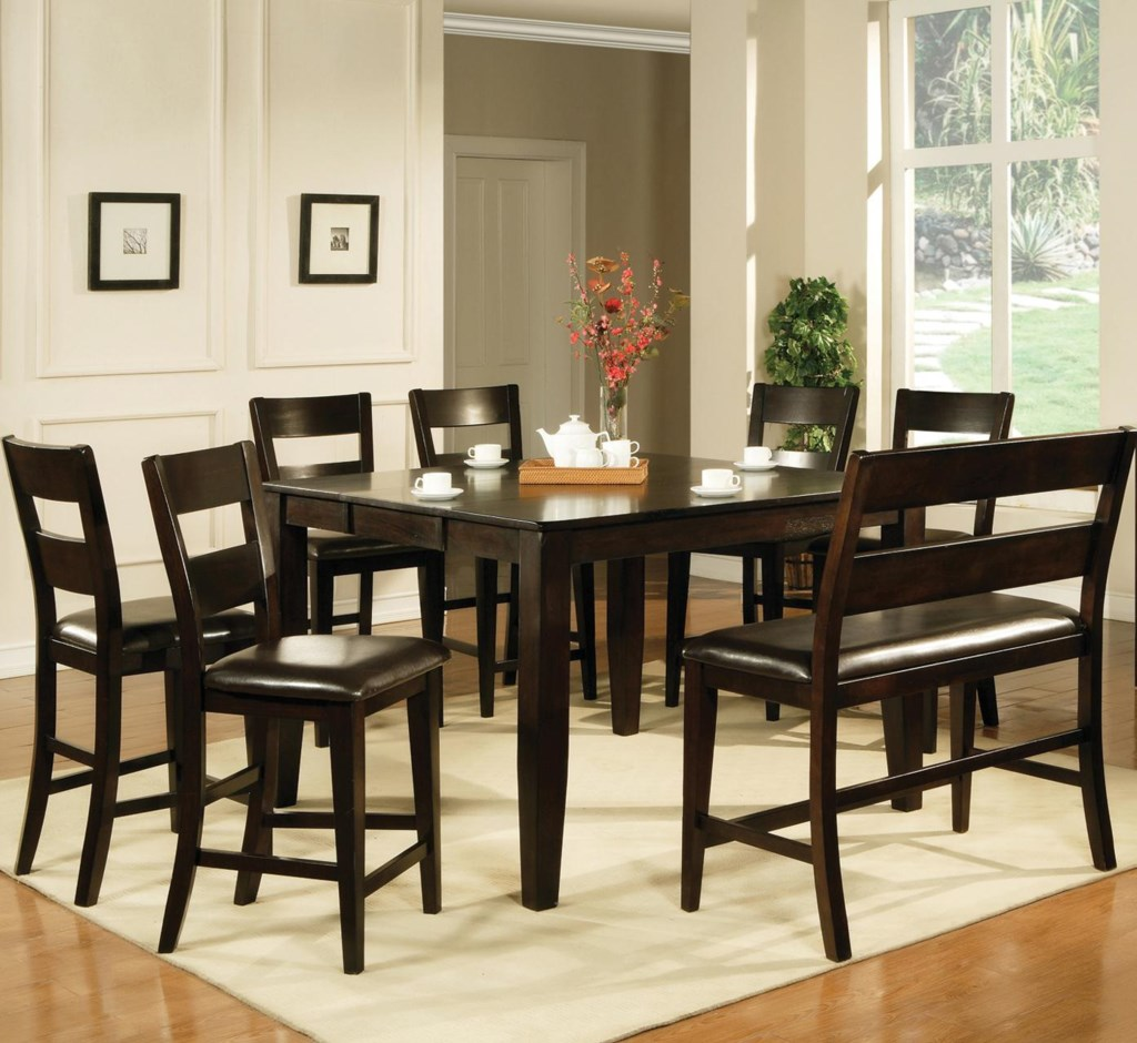 steve silver victoria 8 piece counter height dining set with bench steve silver victoria 8 piece counter height dining set with bench great american home store table chair set with bench