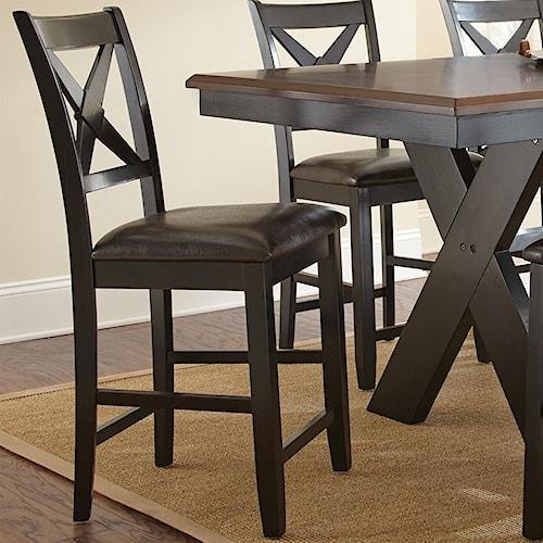 Steve Silver Violante Bentwood X Back Counter Chair Wilson 39 S Furniture Bar Stool Bellingham