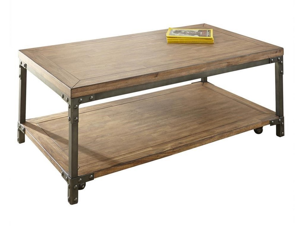 Morris Home WellsWells Cocktail Table with Casters