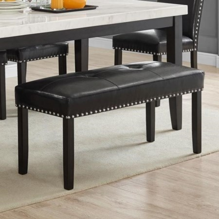 Dining Bench w/ Nailhead