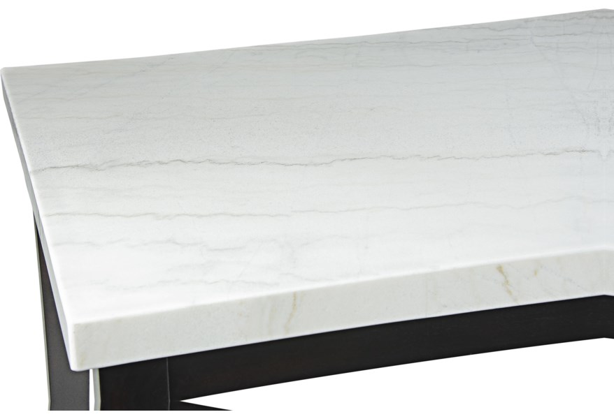 Westby Transitional White Marble Top Dining Table Ruby Gordon Home Dining Tables