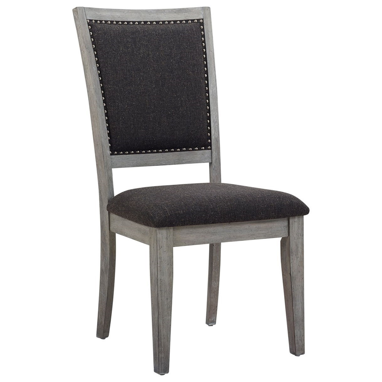 Casual Side Chair with Nailhead Trim