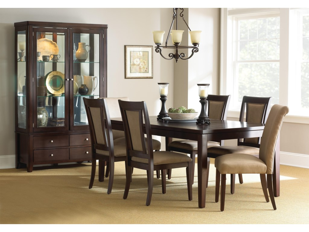 Shown with Dining Table, Side Chairs, and China Cabinet