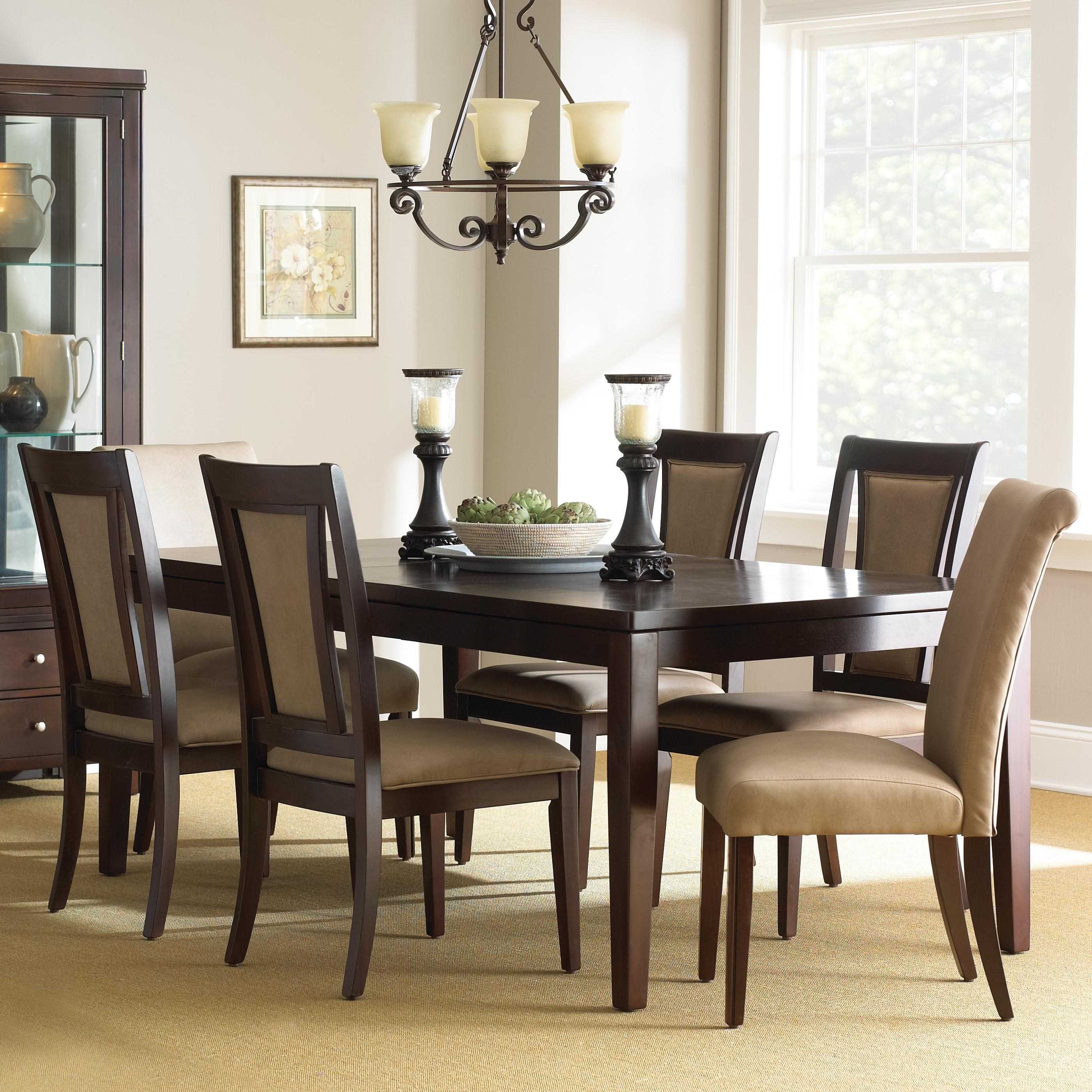 steve silver wilson 7piece dining set with parsons chairs - Steve Silver Furniture