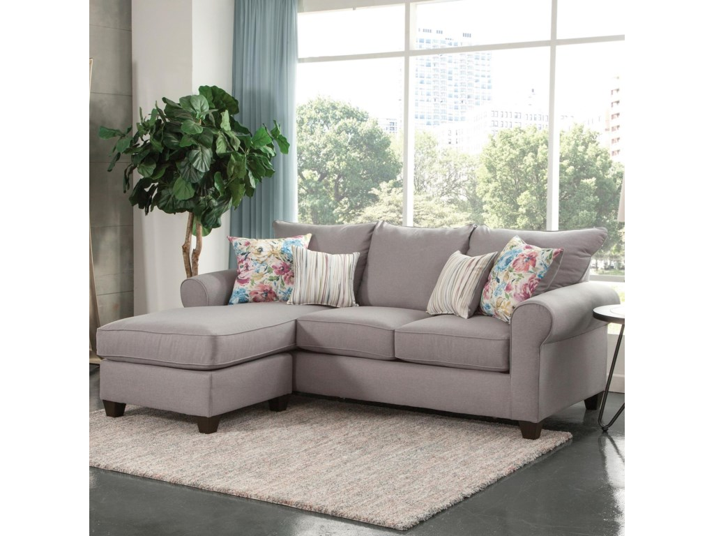 Yorke Transitional Chaise Sofa With Four Accent Pillows By Steve Silver At Northeast Factory Direct