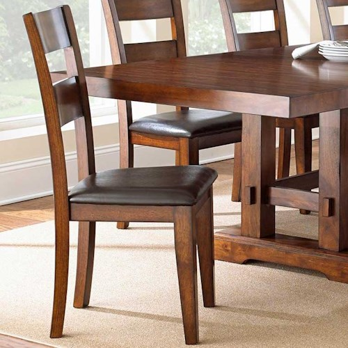 Steve Silver Zappa Ladderback Side Chair with Upholstered Seat