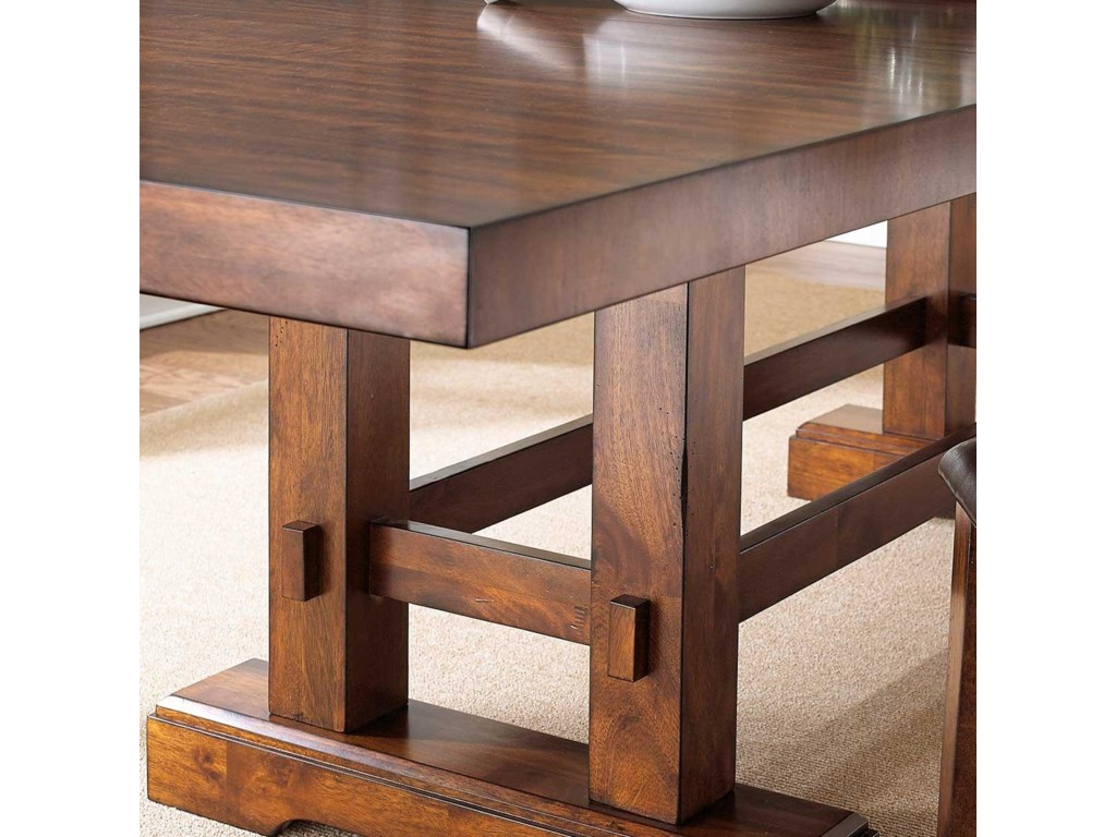 Table Features a Classic Trestle Base for Casual Style
