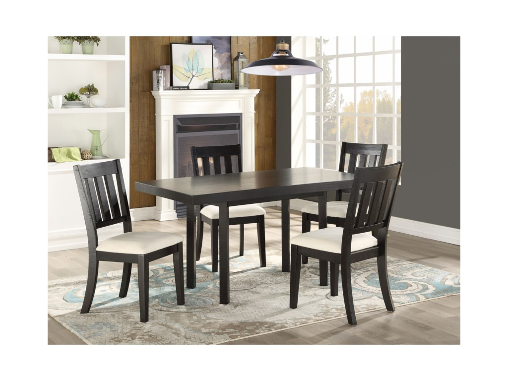 Steve Silver Zeke Transitional 5 Piece Dining And Chair Set