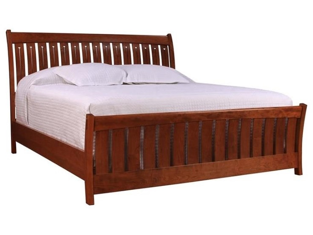 Stickley Cherry Mission Collection King Sleigh Bed