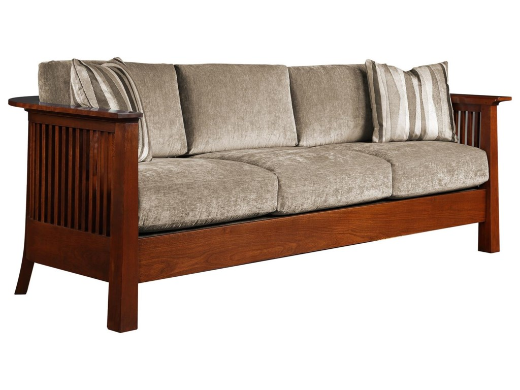 Oak Mission Clics Sofa