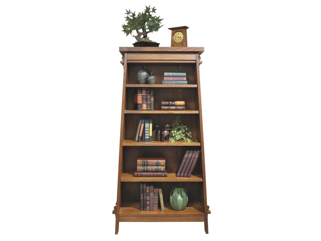 Stickley Oak Mission Clics Tiered Bookshelf Tower Jacksonville Furniture Mart Open Bookcase