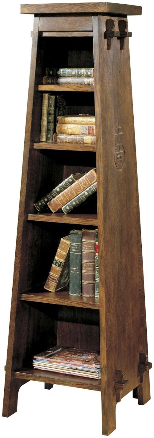 Stickley Oak Mission Classics Roycroft Tiered Shelf
