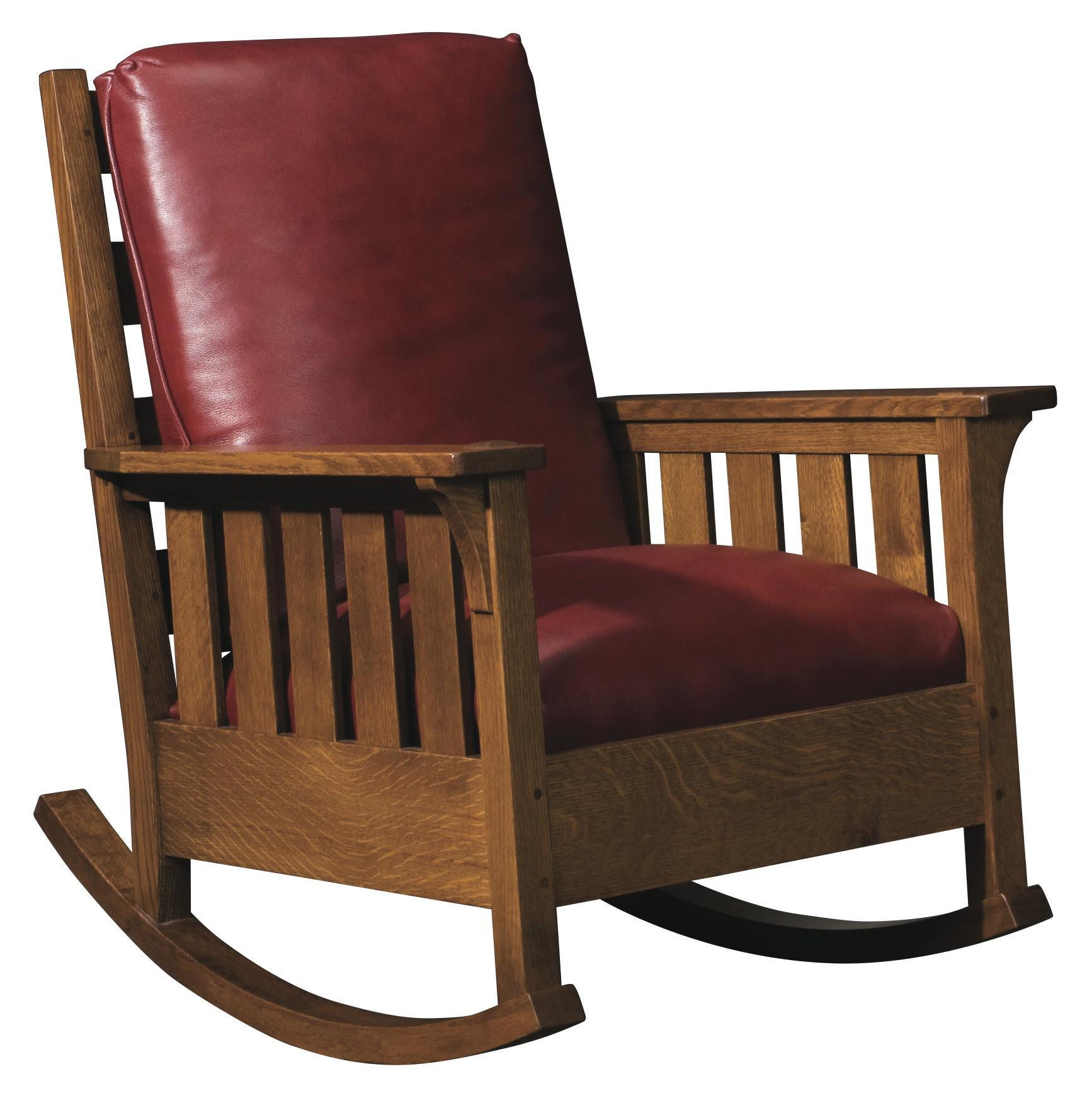 Genial Stickley Oak Mission Classics Loose Cushion Gustav Rocker