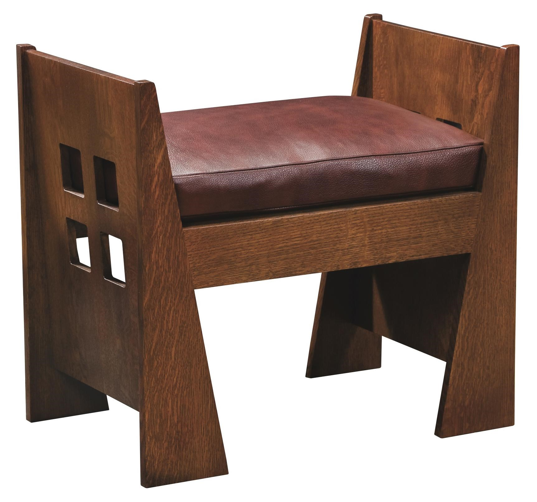 Stickley Oak Mission ClassicsLimbert Window Bench With Cushion ...