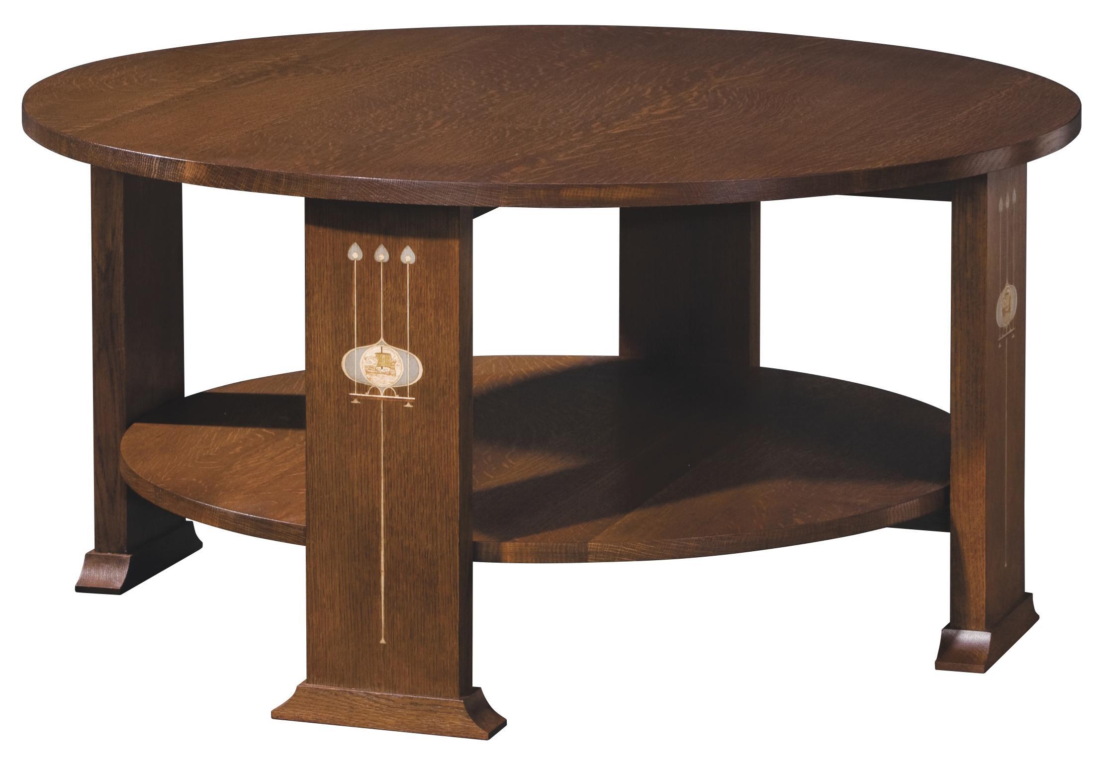 Stickley Oak Mission ClassicsHarvey Ellis Round Cocktail Table ...