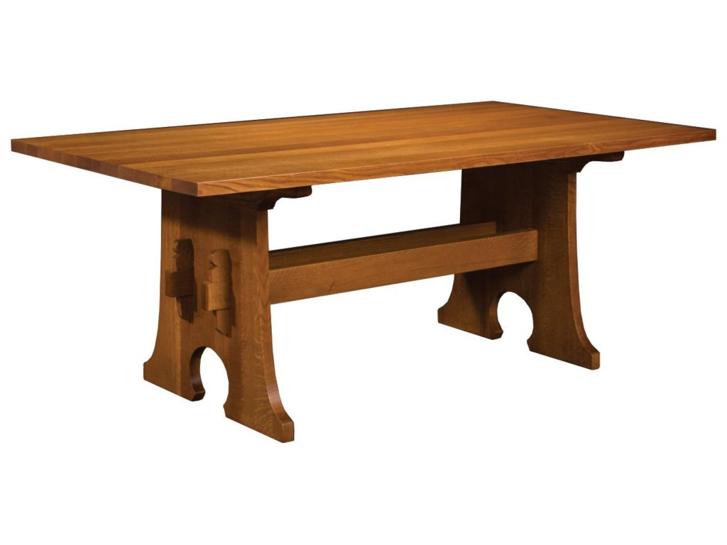 Stickley dining room furniture for sale - Stickley Oak Mission Classics Keyhole Trestle Table Jacksonville Furniture Mart Dining Room Table