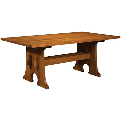 Mission Trestle Table Plans: Stickley Oak Mission Classics Keyhole Trestle Table