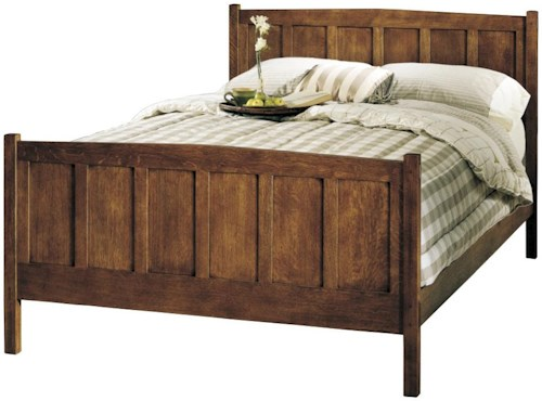 Stickley Oak Mission Classics Queen Size Mission Style Panel Bed ...