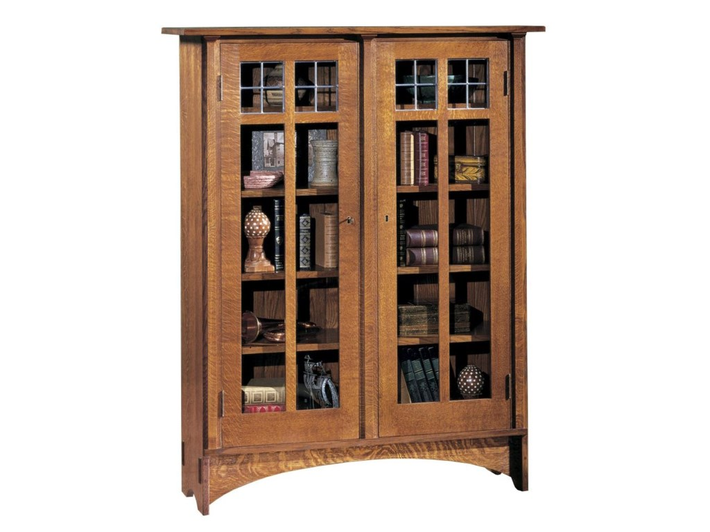 Stickley Oak Mission Clicsdouble Door Bookcase