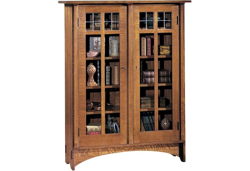Clics Double Gl Door Bookcase