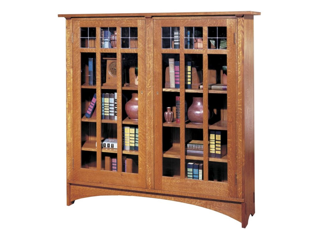 Stickley Oak Mission ClassicsDouble Door Bookcase