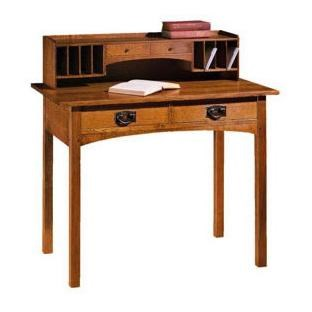 Stickley Oak Mission Classics 2 Drawer Writing Desk With Deck