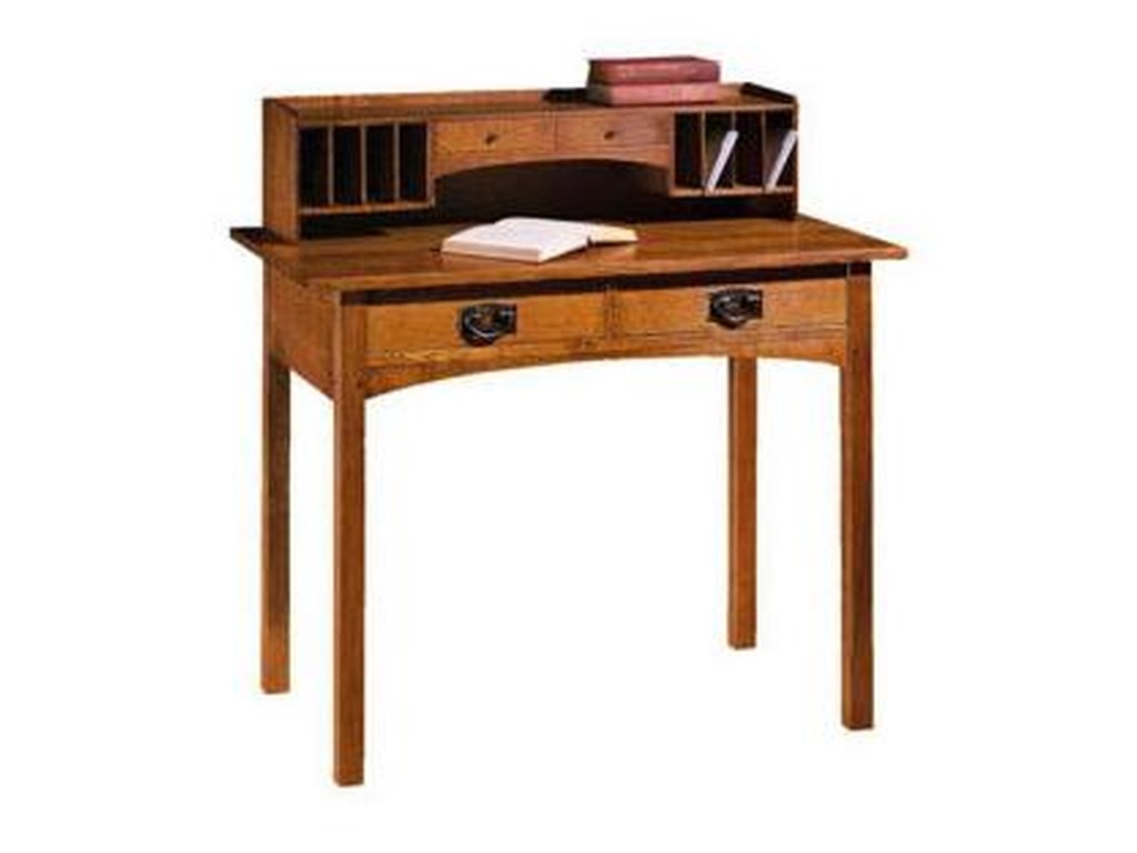 Stickley Oak Mission Classics 44 Drawer Writing Desk with Deck