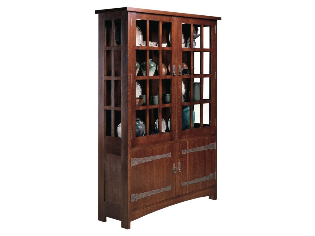 Oak Mission Classics China Cabinet With Paned Glass Doors By Stickley