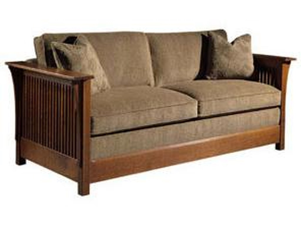 Stickley Oak Mission Clicsqueen Size Fayetteville Sofa Bed