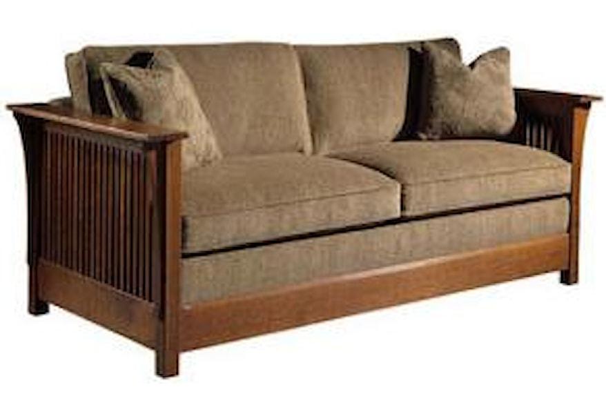 Stickley Oak Mission Classics Queen Size Fayetteville Sofa ...