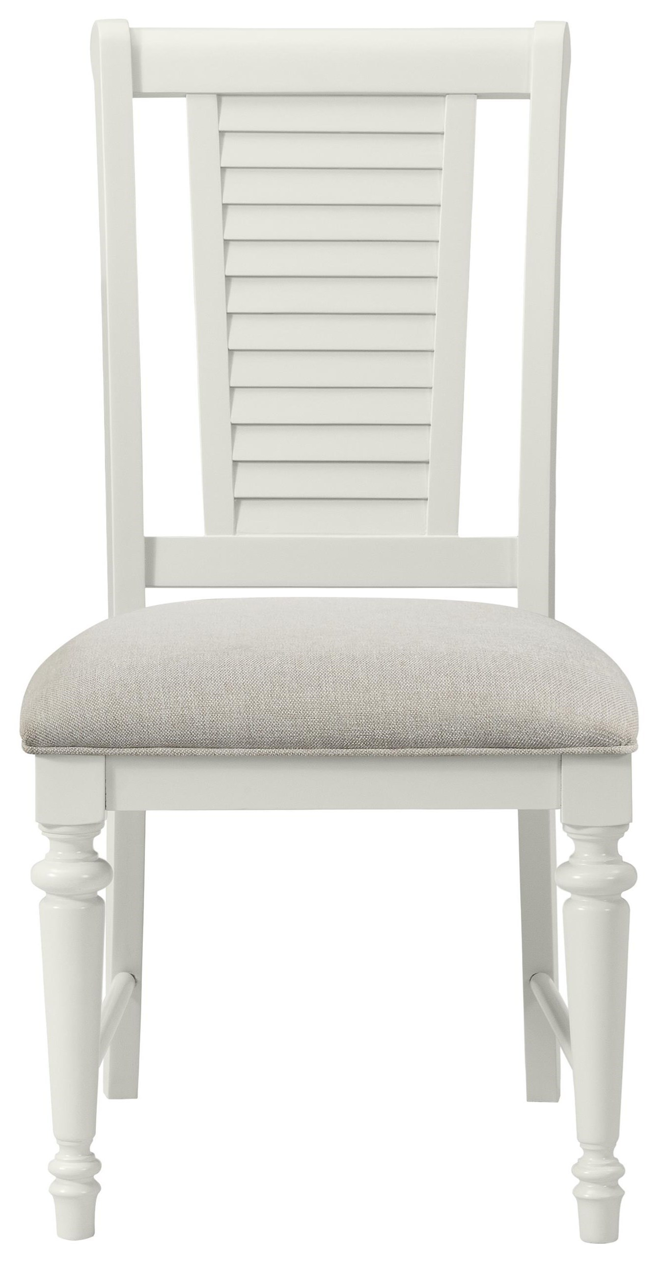White Upholstered Side Chair