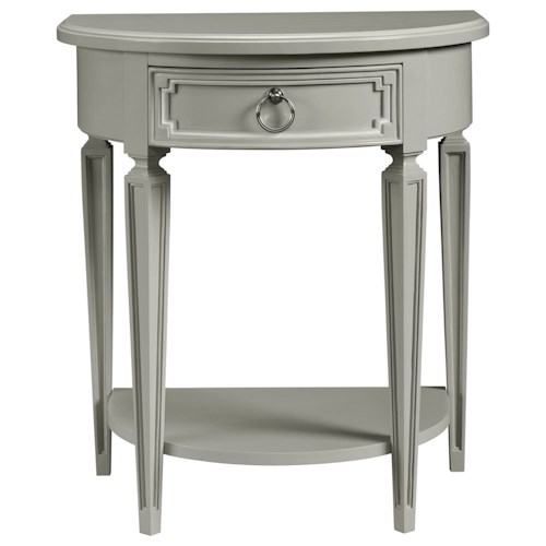 Stone & Leigh Furniture Clementine Court Demilune Bedside Table