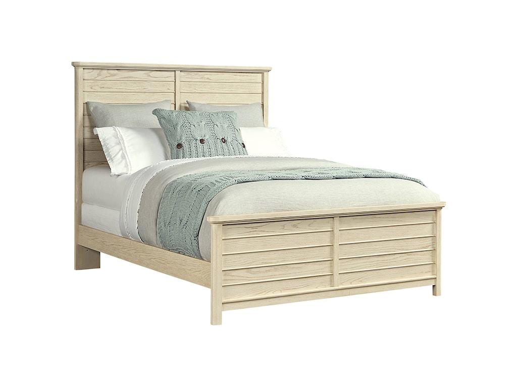 stone leigh furniture driftwood park queen panel bed belfort furniture headboard footboard - Driftwood Bed Frame