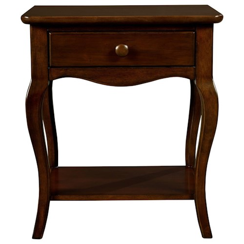 Stone & Leigh Furniture Teaberry Lane Bedside Table with Cabriole Legs