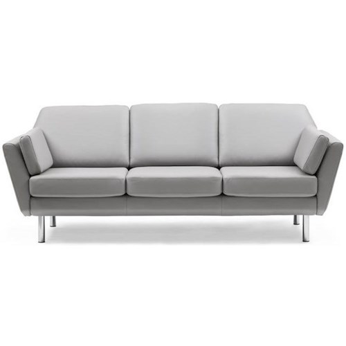 Stressless Air 3 Seater Trio Cushion Reclining Sofa