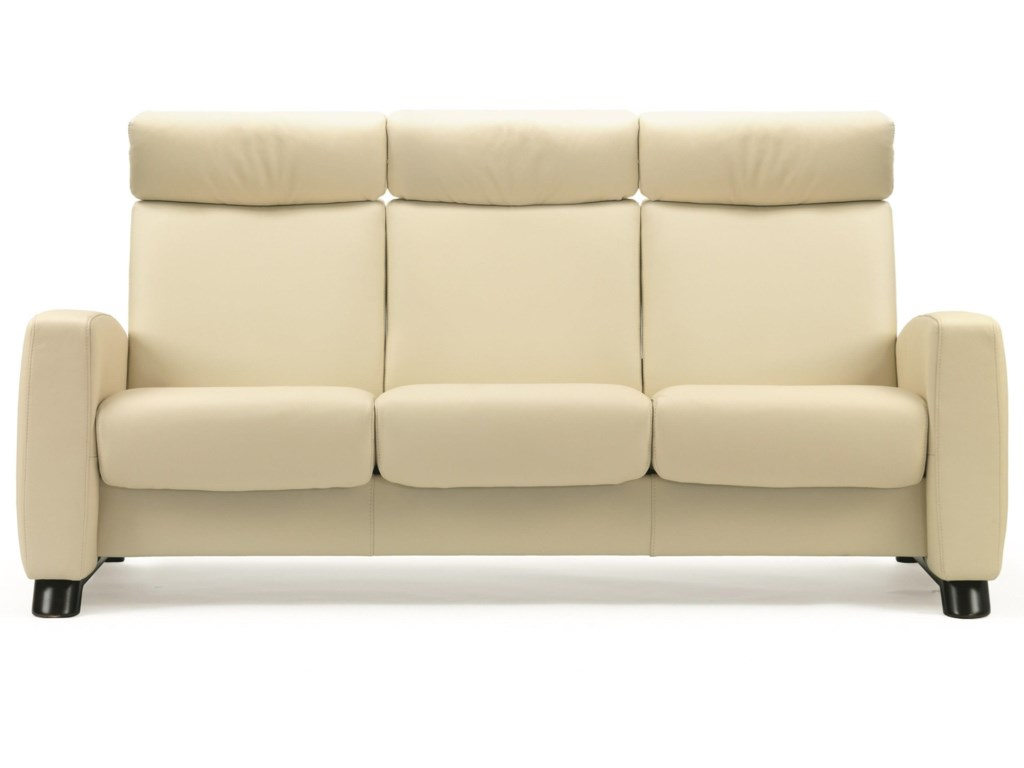 Stressless Arion 19 - A10 Contemporary High-Back Reclining Sofa ...