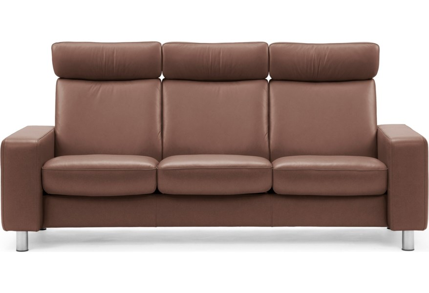 Arion 19 - A20 Contemporary High-Back Reclining Sofa by Stressless at Dunk  & Bright Furniture