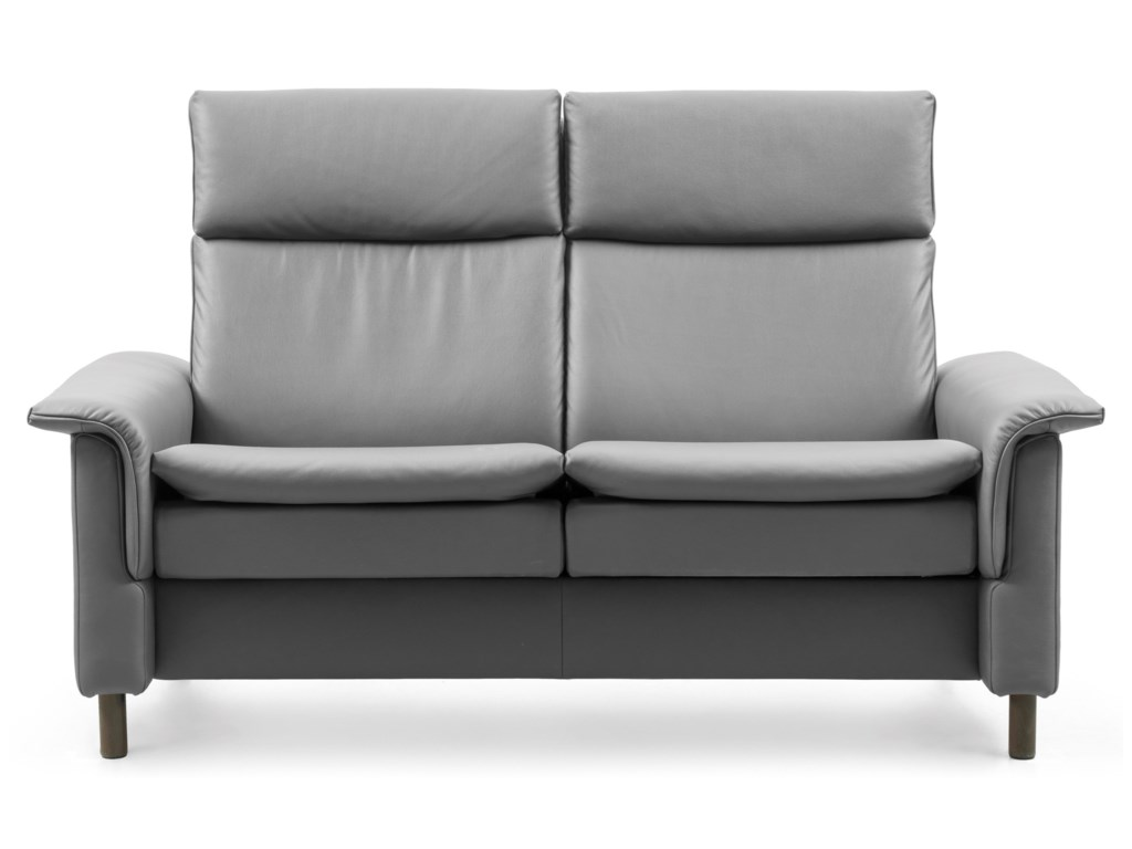 Stressless AuroraHigh-Back Reclining Loveseat
