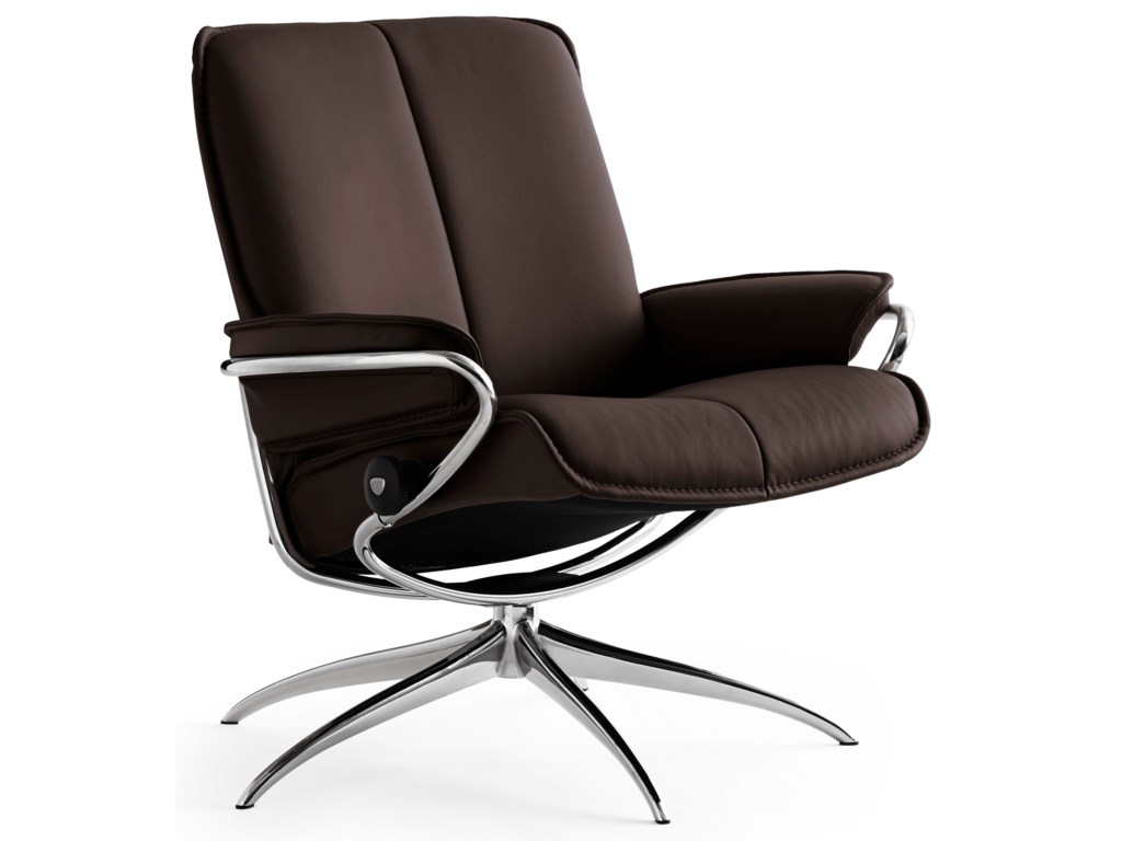 Stressless CityLow Back Recliner with High Base