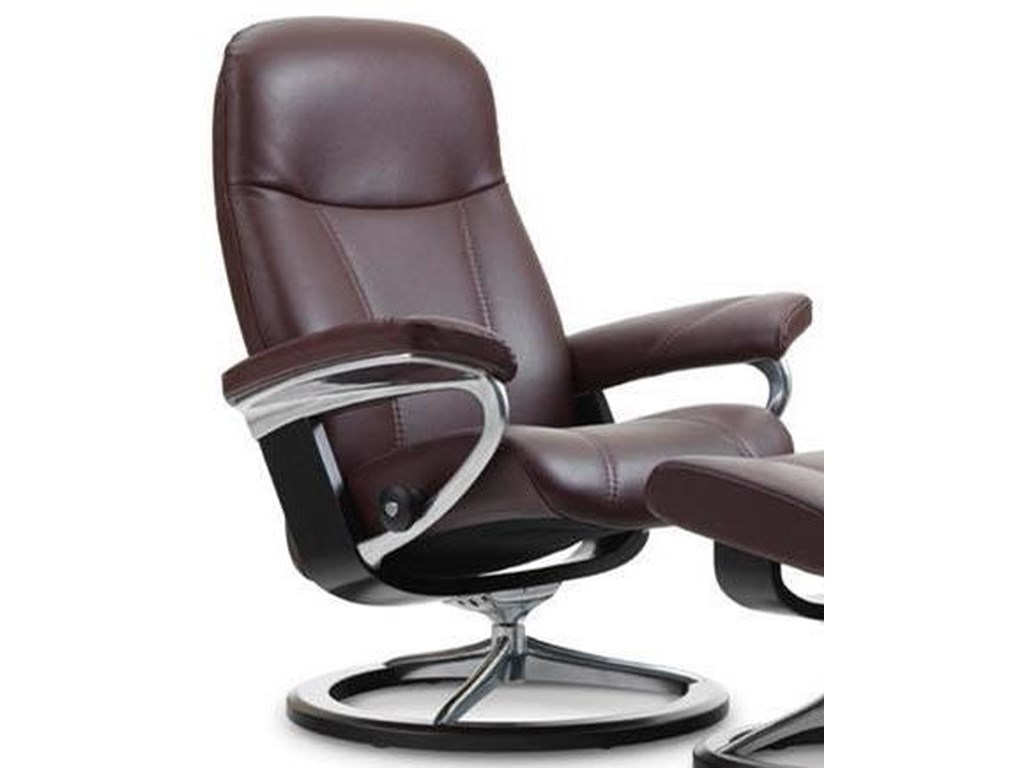 Stressless ConsulLarge Reclining Chair with Signature Base