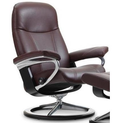 Stressless ConsulSmall Reclining Chair with Signature Base