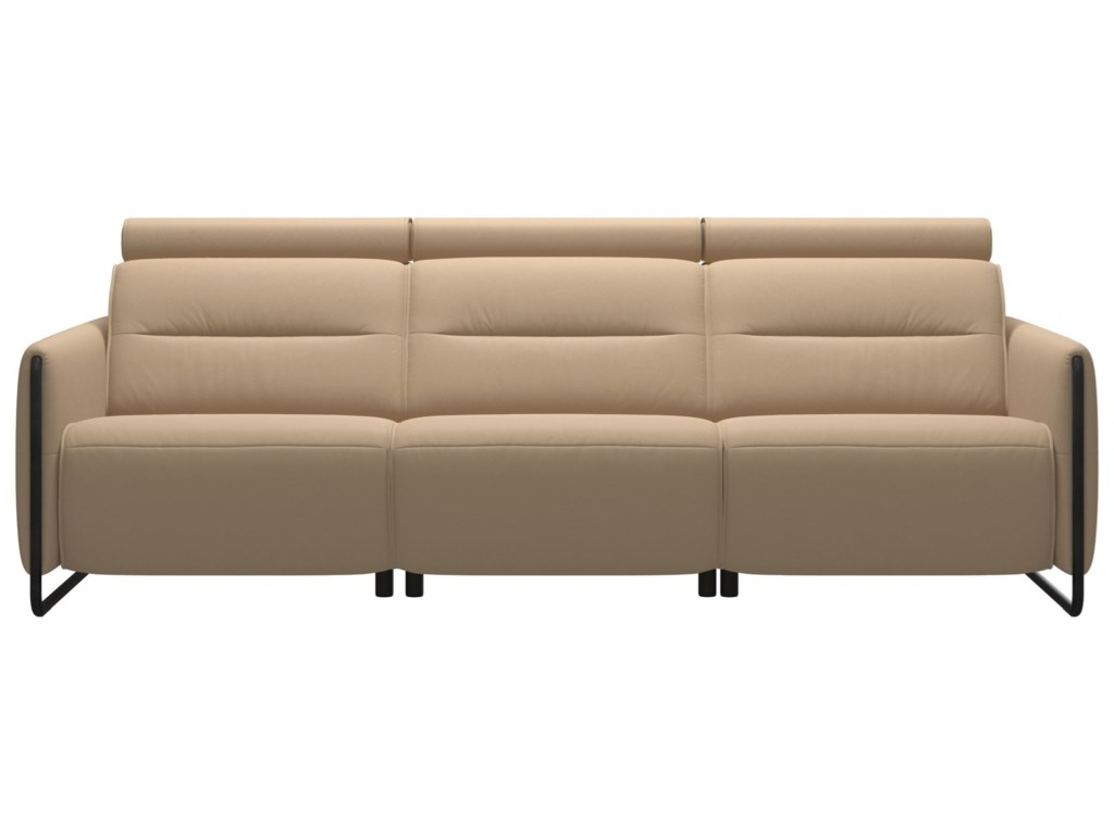 Stressless EmilyPower 3-Seat Sofa with Steel Arms